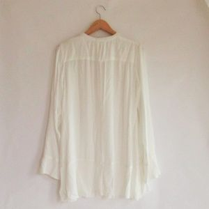 5c0f1522638 Silver Jeans Tops - Silver Jeans Sophia Tunic Shirt Ivory Sheer Size S